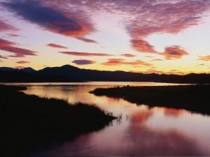 Amanece en el lago Casitas (Ventura, California)