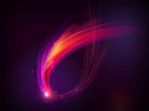 Punto de luz sobre las líneas abstractas