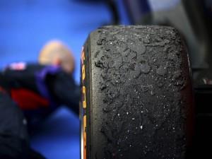 La rueda de un Fórmula 1