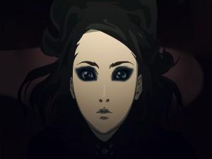 La mirada sombría de una joven