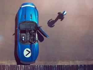Piloto saliendo del Jaguar