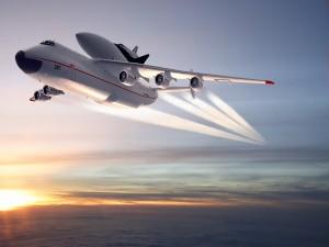 Antonov An-225 Mriya en el cielo