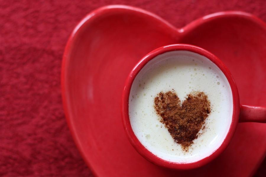 Corazón en el café