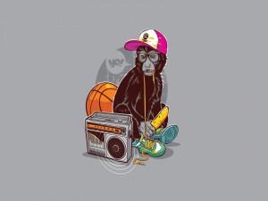 Un mono rapero