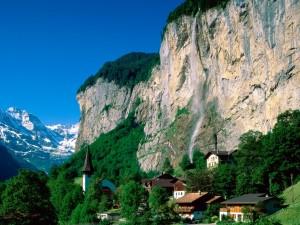 Hermosa vista de Lauterbrunnen (Suiza)