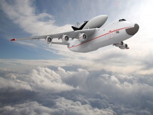 Antonov An-225 Mriya sobre las nubes