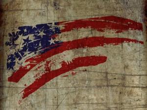 Pintando la bandera americana