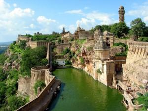 Antigua ciudad en la India