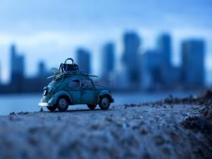 Un Volkswagen Escarabajo de juguete