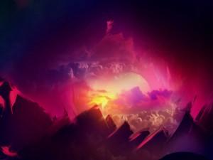 El sol se esconde detrás de las montañas