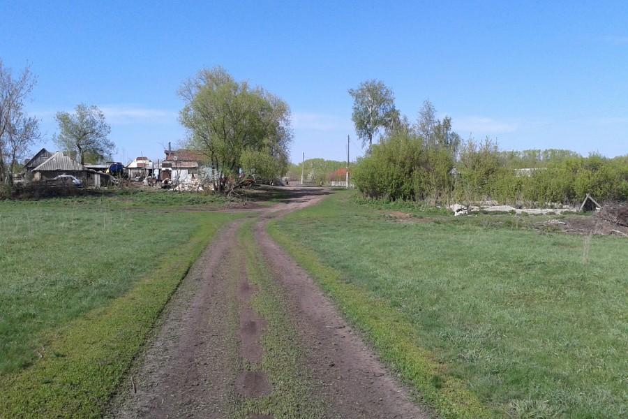 Camino hacia un pequeño poblado