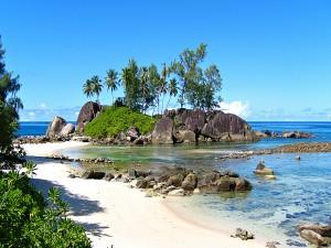 Playa en las islas Seychelles