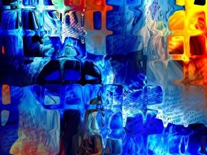 Pintura abstracta de cristal