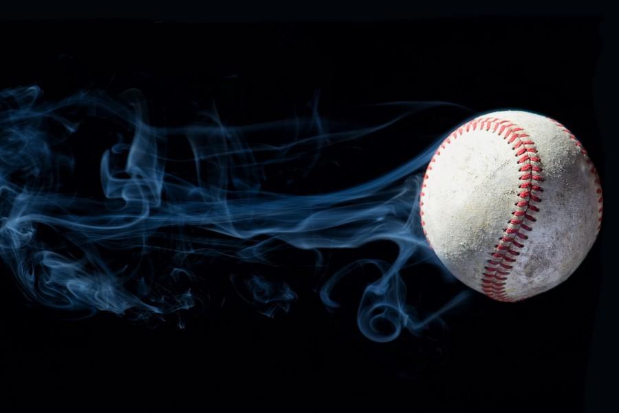 Humo en una pelota de béisbol