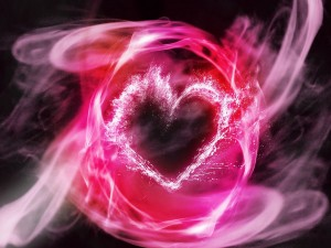 Corazón rosa en 3D