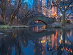 Puente en el Central Park (Nueva York)