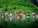 Casas a orillas del lago (Hallstatt, Austria)