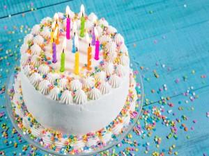 Pastel decorado para un cumpleaños