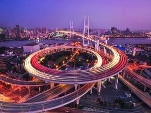 Puente Nanpu para cruzar el río Huangpu (China)