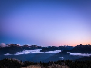 Hermosa vista de las montañas en el Parque Nacional Olympic