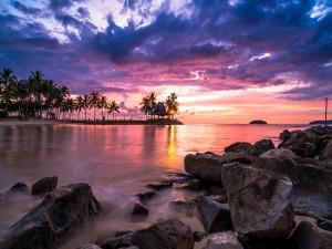 Hermoso amanecer (Borneo, Malasia)