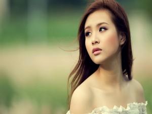 Rostro de una guapa modelo asiática