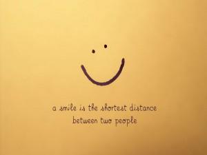 Una sonrisa es la distancia más corta entre dos personas
