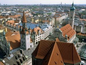 Vista aérea de Munich (Alemania)