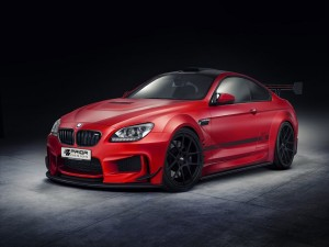 BMW M6 de color rojo