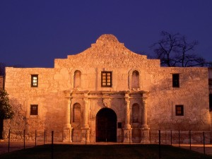 Fachada de la Misión de San Antonio, El Álamo (San Antonio, Texas)