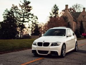BMW E90 en una carretera comarcal