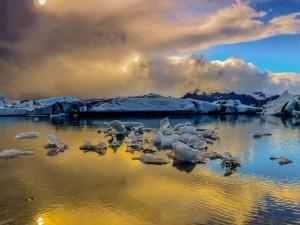 Hielo y nieve en Islandia