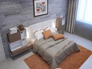 Elegante habitación en tonos marrón