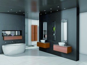 Un moderno y agradable baño