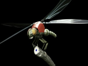 Una libélula mecánica