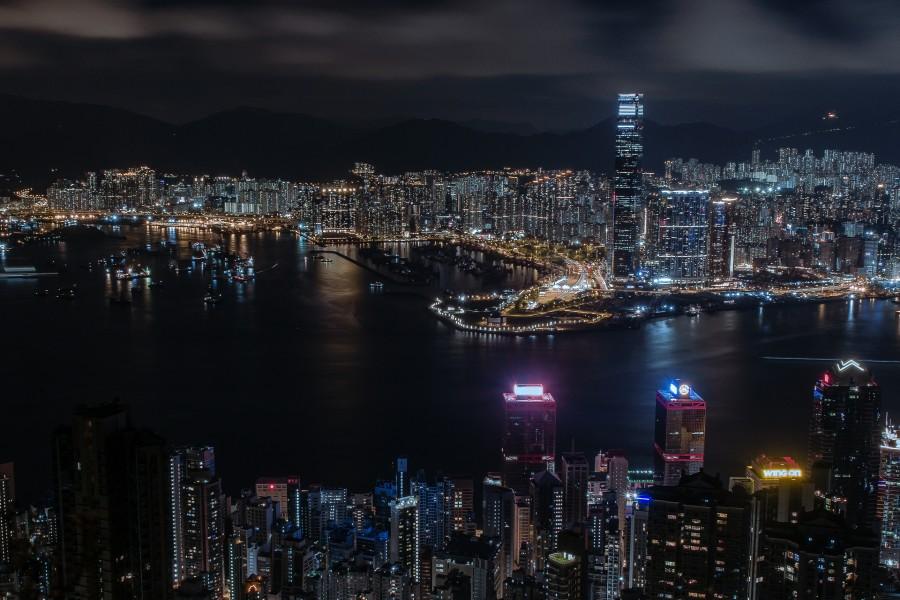 Vista panorámica de Hong Kong