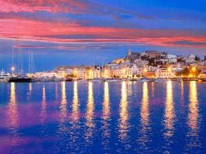 Atardecer en Ibiza (España)