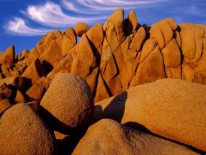 Rocas en el Parque nacional de Árboles de Josué (California)