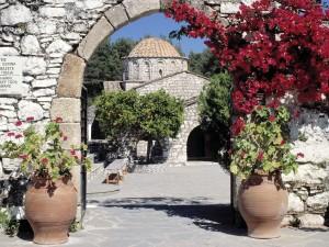 Edificios de piedra en Rodas (Grecia)