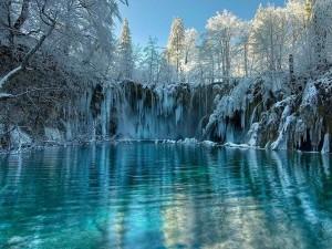 Impactantes cascadas congeladas