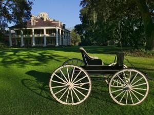 Carro en la Plantación Houmas (Darrow, Luisiana)