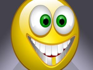 Smiley sonriente y ojos grandes