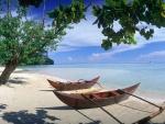 Embarcaciones en la orilla de la playa