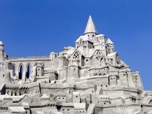Gran castillo de arena