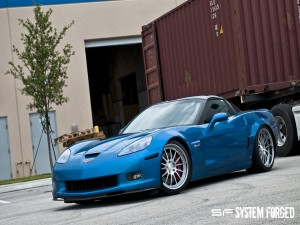 Corvette Z06 de color azul