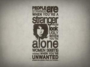 La cara de Jim Morrison junto a una gran frase