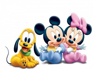 Mickey, Minni y Goofy bebés