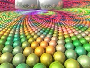 Bolas de colores en 3D