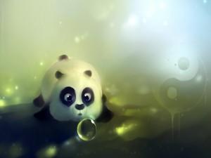 Un lindo osito panda