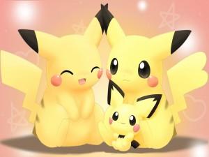 Pikachu con su familia